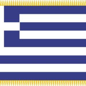Σημαία Παρέλασης (Πλεκτός Πολυεστέρας / Διπλές Ραφές)