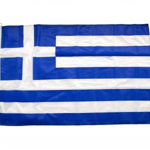 Σημαία Ελληνική (Πλεκτός Πολυεστέρας / Διπλές Ραφές)